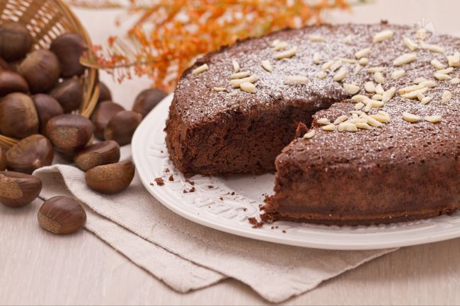 Chocolate Chestnut Flour Cake