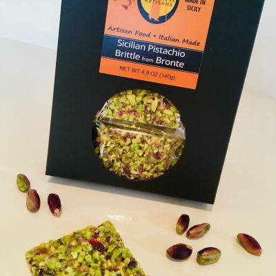 Sicilian Pistachio Brittle - Imported from Bronte made with 60% exclusive Bronte pistachios and imported from Giannetti Artisans. A true artisanal treat from Sicily.