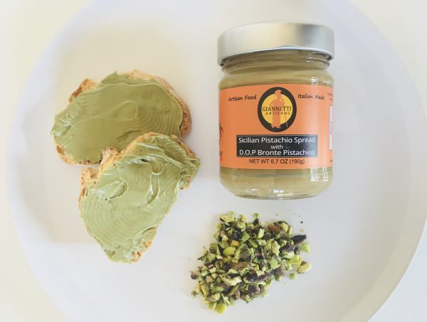 Photo of a jar of DOP Certified Bronte Pistachio Spread