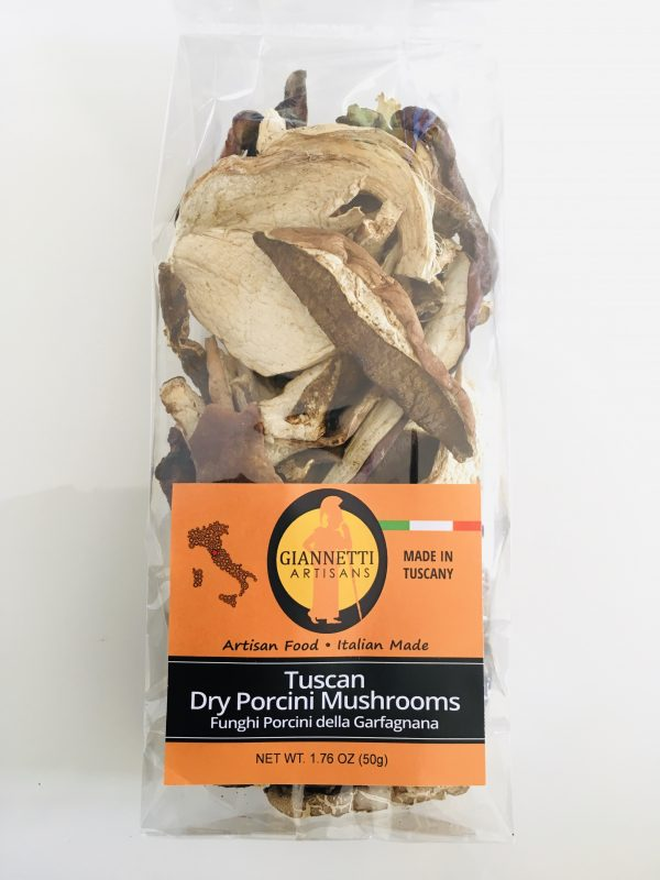 Photo of a bag of Dry Porcini Mushrooms from Tuscany