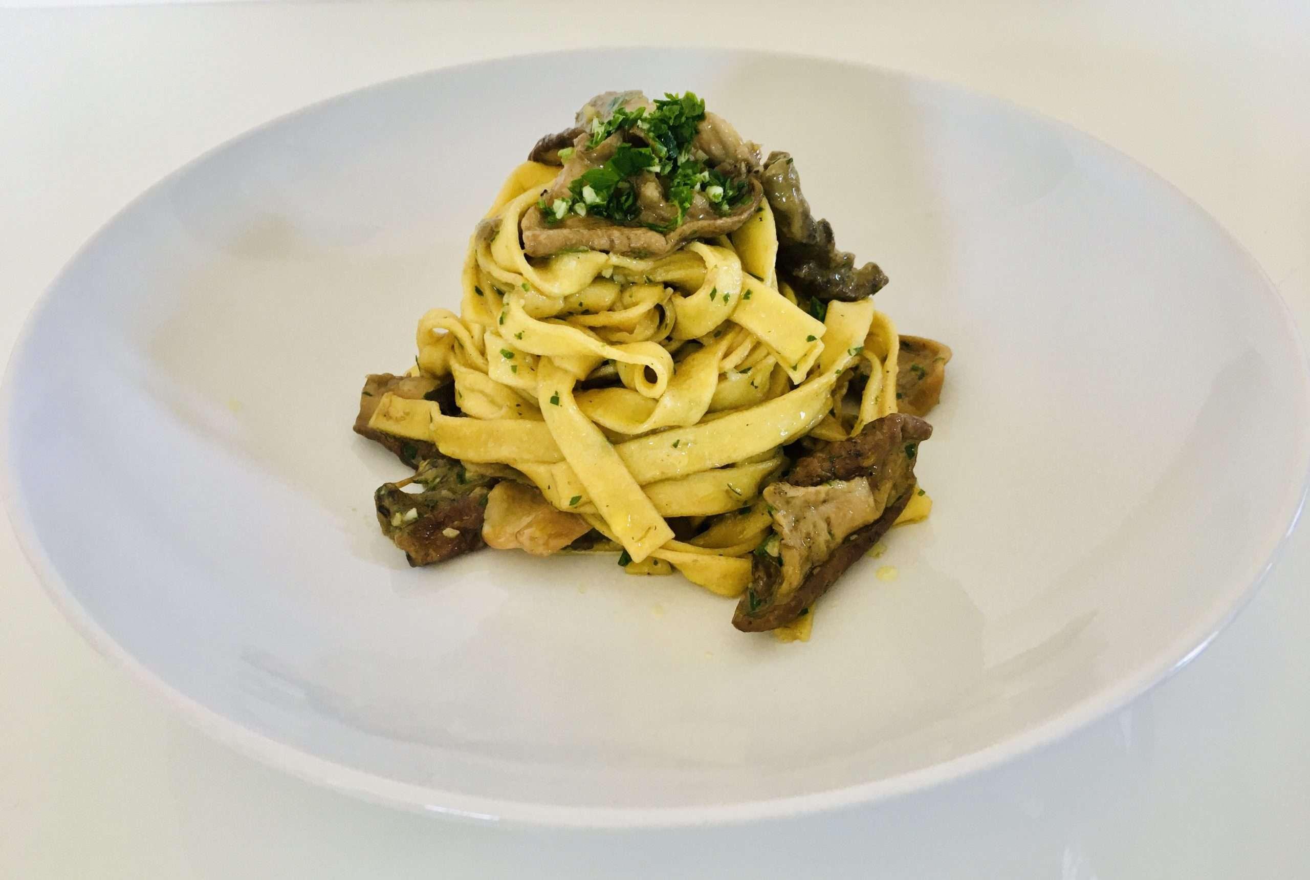 Tagliatelle Pasta Recipe with Italian Porcini Mushrooms